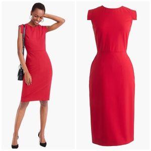 NWT J. Crew 365 Red Resume Dress Tall